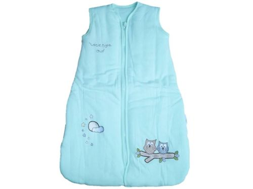 12 Baby Cotton Mr Sandman Sleeping Bags 3.5 TOG Mint Owl