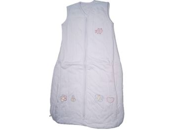 12 Cotton Mr Sandman Sleeping Bags 2.5 TOG Lilac Butterflies Age 0-6 Months