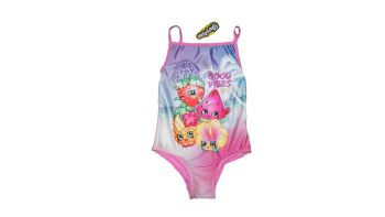 12 girl's shopkins swim suits