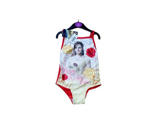 12 girl's disney princess beauty and the beast swim suits