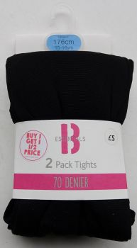 100 Girl's Ex Store Black 70 Denier Tights