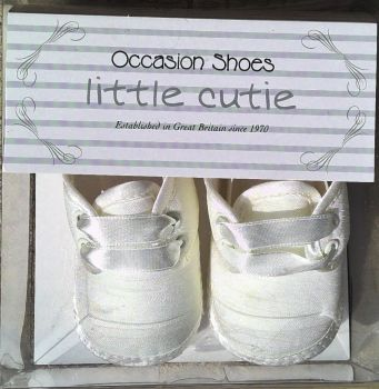 12 Boy's & Girl's Baby Ivory Christening Shoes 1-3 x 7 & 3-6 x 2
