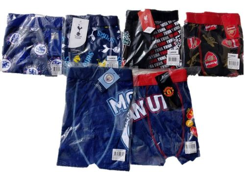 20 Men's Football Single Packed Boxers