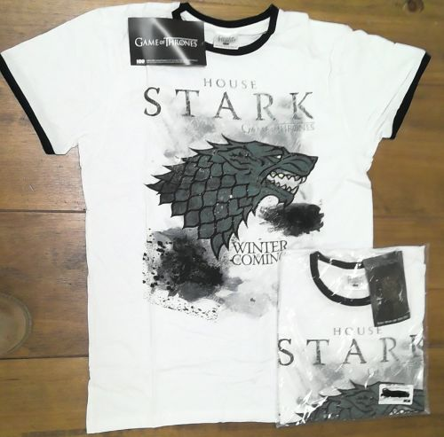 20 game of thrones house of stark white t shirt