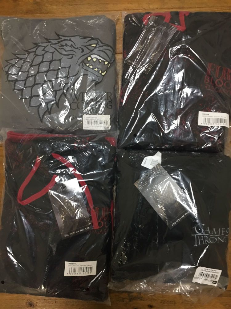 New Product 14 new stock game of thrones hoodies mens just £3.50 each