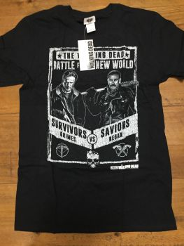 15 walking dead t shirts just £1.50 each size small and xxL 1 xl
