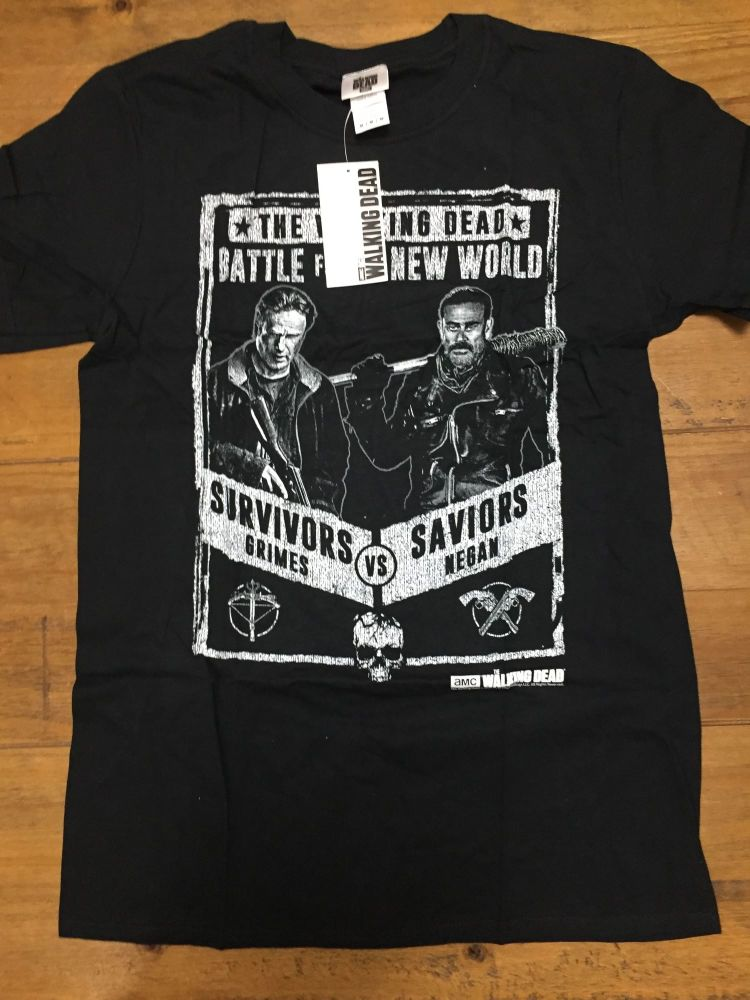 New Product 20 walking dead t shirts just £1.75 each size medium