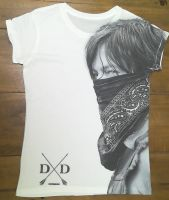 10 ladies flat pack white walking dead daryl dixon t shirts just £1.50 sublimated x large only