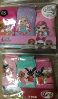 New Product 35 girls bing and in the night garden 3 pack briefs just £1.25 each