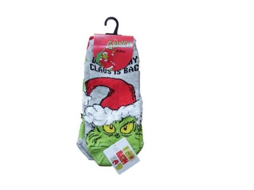 12 ex store The Grinch Christmas trainer/invisible liner socks