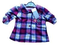 12 Ex Store Girl's Pink Checked Shirts