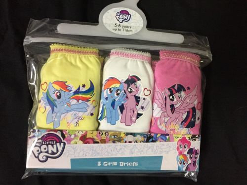 New Product 18 girls 3 pack official my little pony briefs just £1.50 each