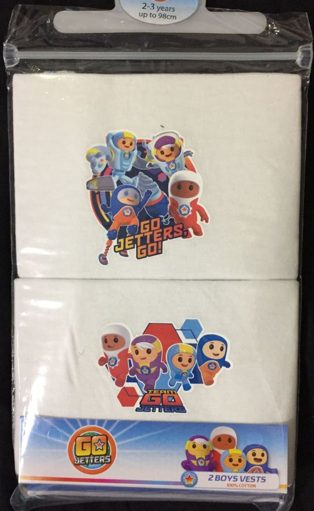 New Product 18 boys official go jetters 2 pack vests £1.30