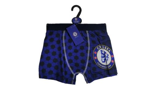 18 Boy's Single Hanger Pack Official Licenced Chelsea FC Boxers/Trunks