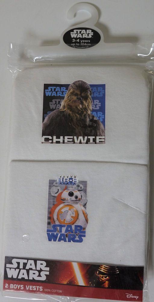 18 Boy's Star Wars EP7 2 Pack Vests