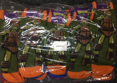New Product 10 4 pack official teenage mutant ninja turtles socks just £1.5