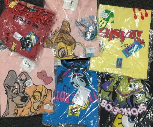 New Product 68 ladies character t shirts just £1.00 each