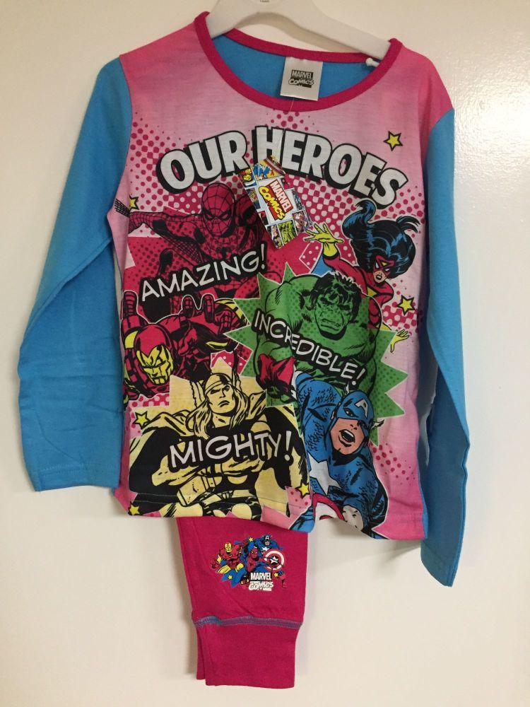 New Product 18 girls marvel avengers pyjamas £2.65 each
