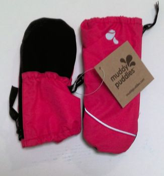 10  Baby Pink Ski Mittens  by  Muddy Puddles