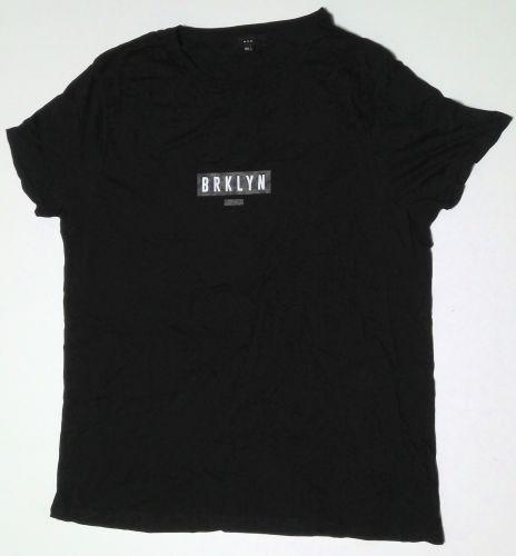 50 ex store men's black brooklyn new york embossed print t shirts £1.00 eac