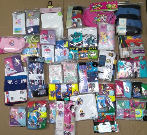 13 assorted girl's 3 pack briefs