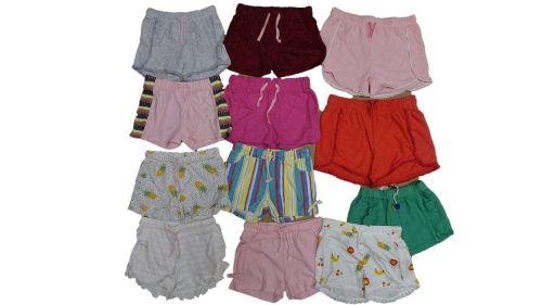 12 Girls Various Shorts. Assorted Sizes 50p
