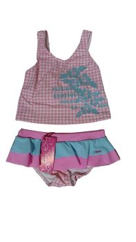 12 Girl's Lulu Rio Pink Check Tankini NOW £3.25