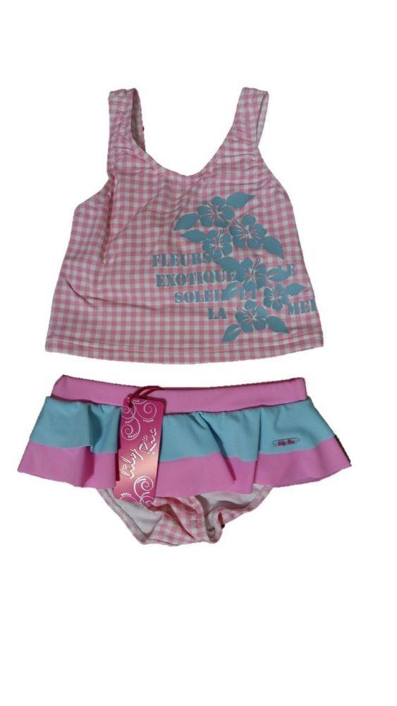 12 Girl's Lulu Rio Pink Check Tankini