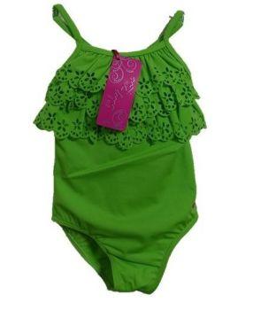 10 Girl's Apple Green Lulu Rio Swim Suits Now £3.25