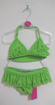 11 Girl's Apple Green Lulu Rio Bikini.NOW £3.25