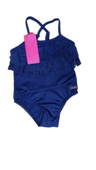11 Girl's Navy Lulu Rio Swim Suits NOW £3.25
