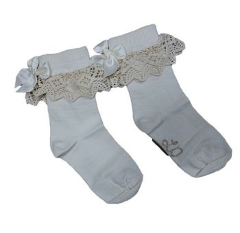 50 girl's ivory socks just £1.00 each