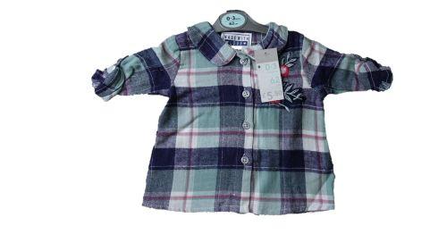12 Ex Store Boy's Blue Checked Shirts