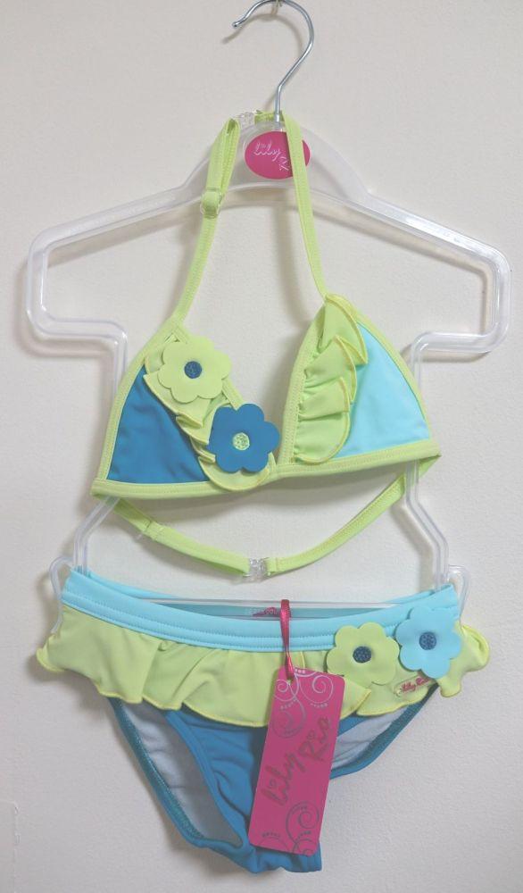 13 Girl's Teal/Apple Lulu Rio Bikini
