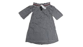 29 Ex Store Black & White Bardot Top Gingham Maternity Dress