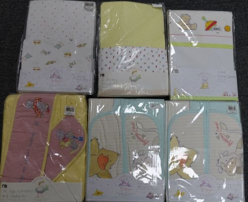 New Product 11 mothercare 2pack cot sheets and cott bed sheets and curtains