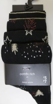 24 ladies x store 4 pack cotton rich Christmas socks one size 4-8 £1.25 each