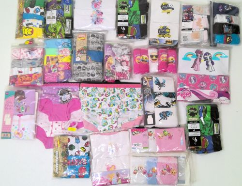 20 boys/girls assorted character 3 pack vests just £1.25 each