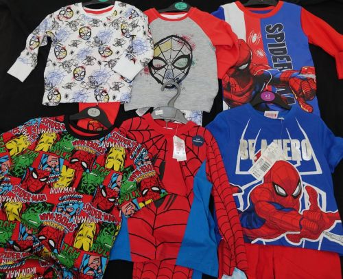 New Product DEAL 22 mixed spider-man pyjamas x store just £2.50 each