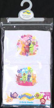 18 girls teletubbies  2 pack vests just £1.30 each