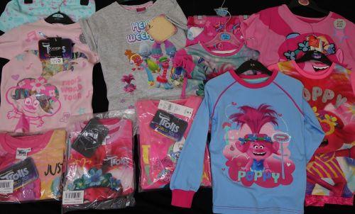 New Product 33 mixed x store trolls pyjamas just £2.50 each