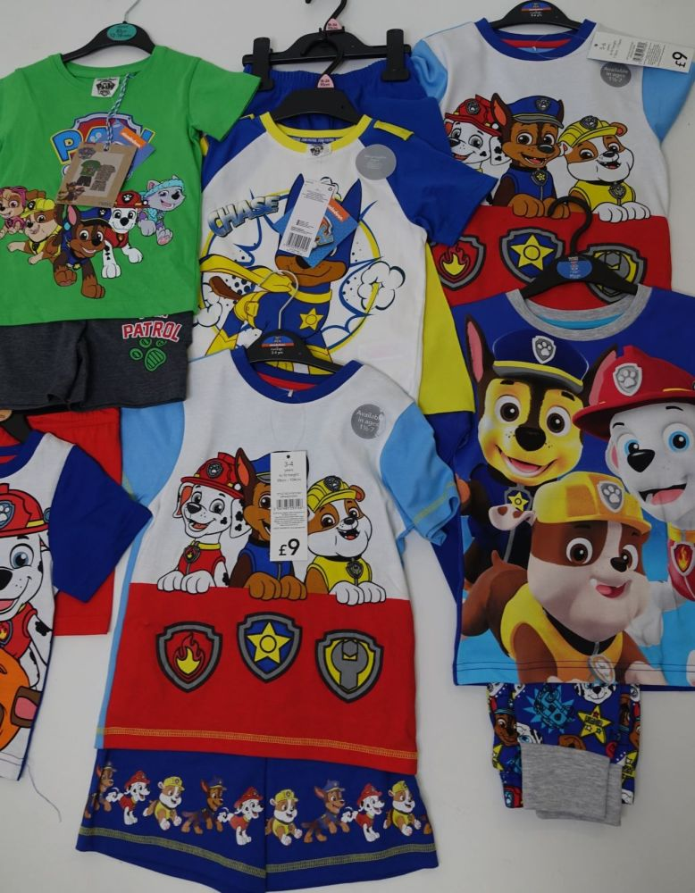 New Product 42 mixed girls and boys paw patrol pyjamas x store just £3.00 e