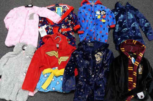 New Product 32 mixed lot girls and boys character fleece robes pjs and one