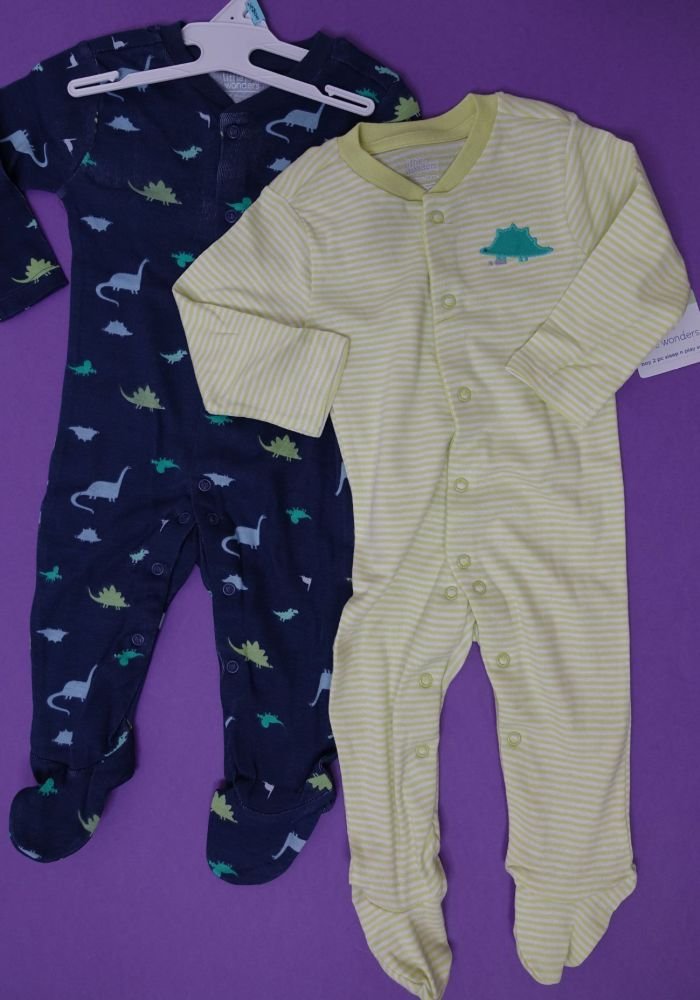 New Product 10 little wonders baby 2 piece romper sleepsuit  just £2.65 eac