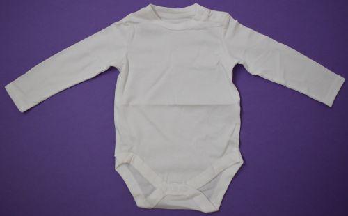 50 Baby Plain White Long Sleeved Bodyvests