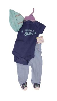 10 little wonders baby 3 piece sets hat body vest and leggings just £3.00 each.SY7843
