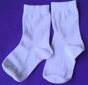 12 Pairs Girls/Boys White Ankle Sock - Size 9-12 only 30p