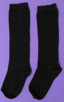 12 Pairs Boys/Girls Navy Knee High Sock Size 12½-3½ only 30p