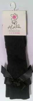 23 Girls Charcoal Fancy Socks 3-6 months - 7-8 year (only 1 x 7-8 per 23)