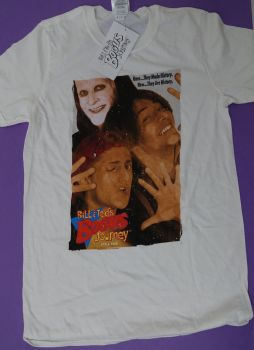 12 bill and ted's excellent adventure t shirts just £2.65 each white
